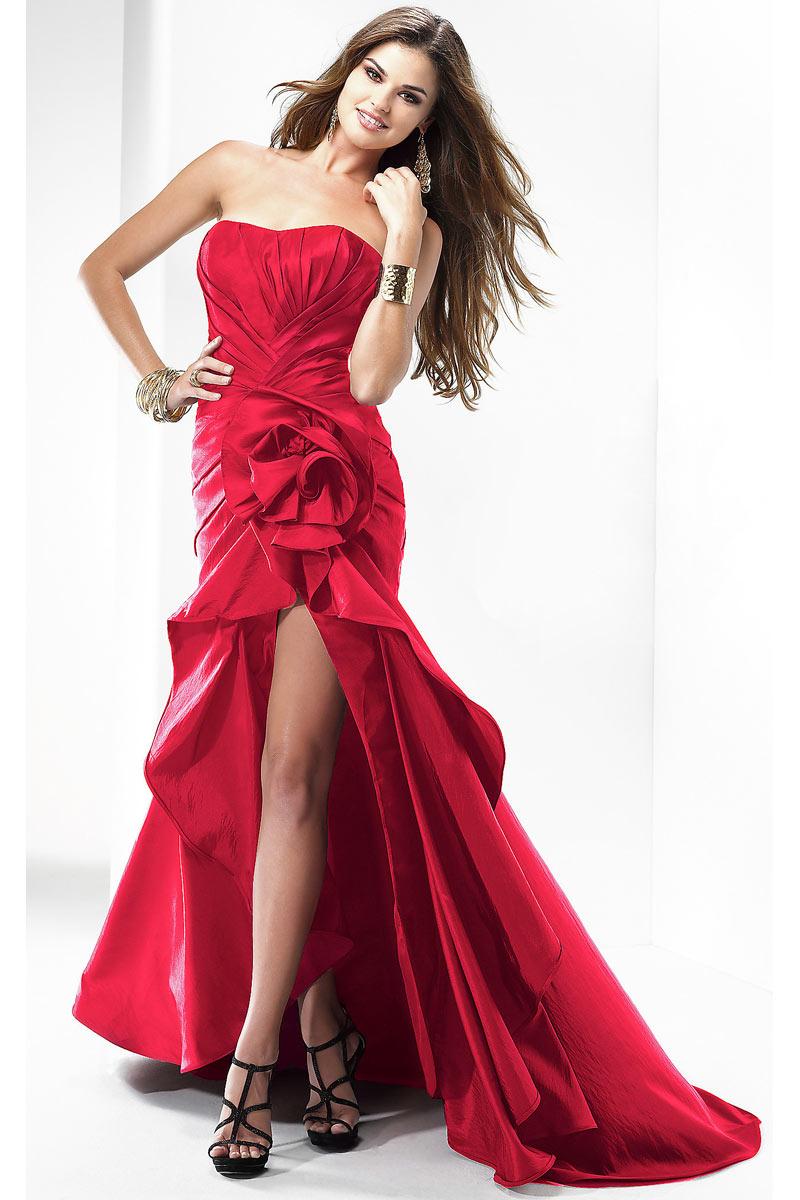 achat robe habillée bustier longue derrière courte devant pas cher