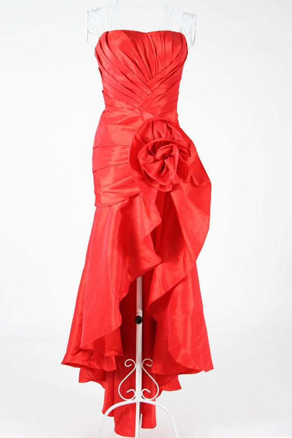 Robes Gallery: Robe Robe bustier en taffetas courte devant
