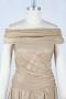 Robe de célébrité Penelope Cruz épaule dégagée plissé ruché en mousseline