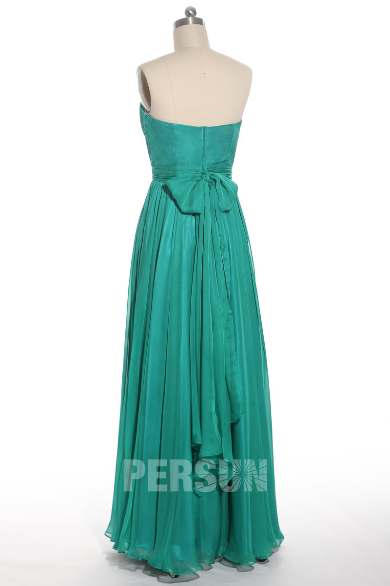 Robe soirée bustier plissée Lily Donaldson longue sol