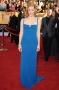 Robe de star Jessica Chastain sexy col carré en mousseline de soie