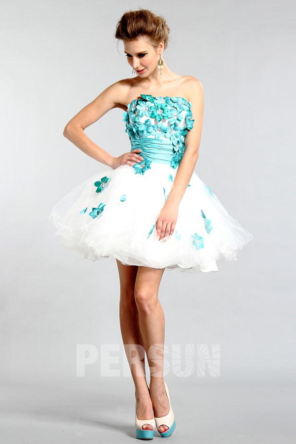 Petite robe bustier ornée de fleurs
