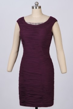 Soldes robe de cocktail prune taille 40
