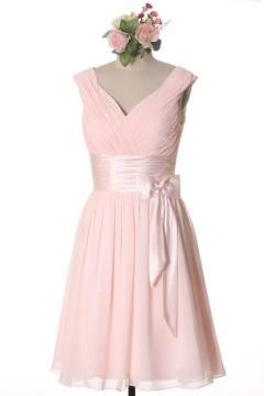 Soldes robe de soirée rose courte taille 42 expédié en 24H
