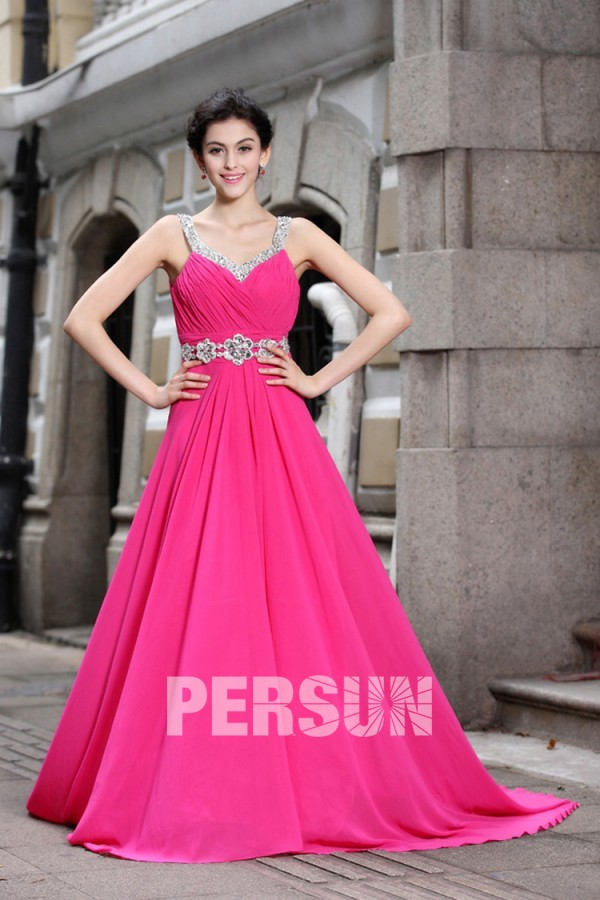 Robe princesse rose bonbon