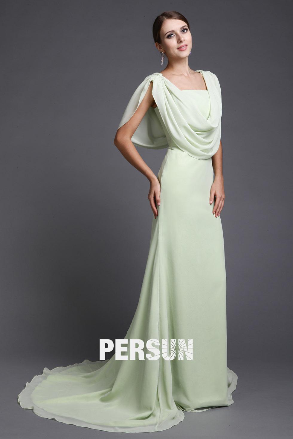 robe longue en mousseline pour mère de la mariée