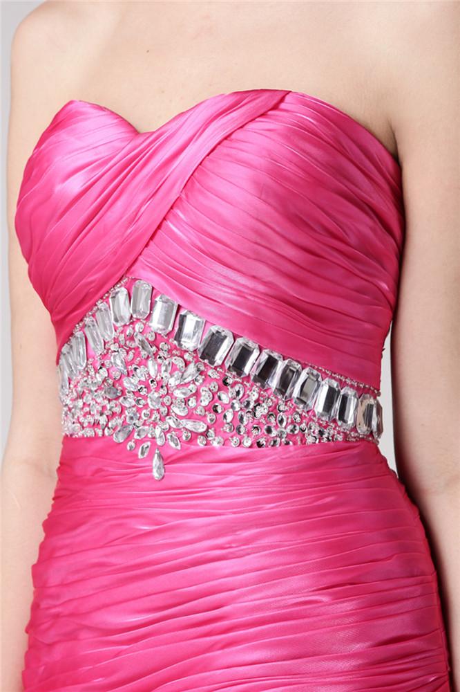 robe rose bonbon à bustier coeur