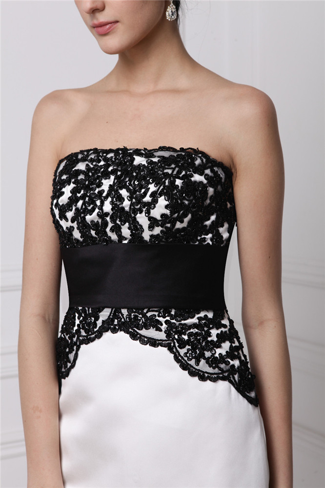 robe bustier à haut noir avec style Empire