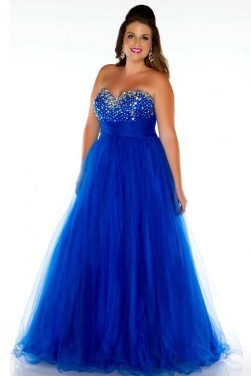 Robe de soirée princesse bleu bustier coeur brillant