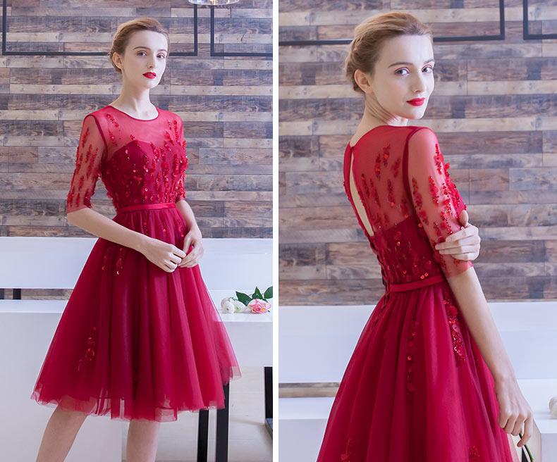 Robe de mariée rouge à pétale