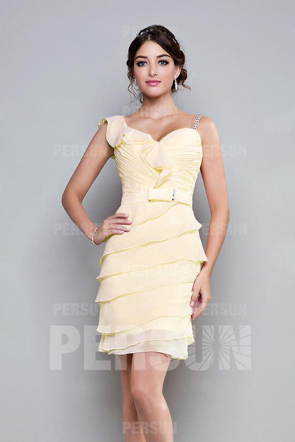 mini robe jeune moulante avec bretelle Spaghetti