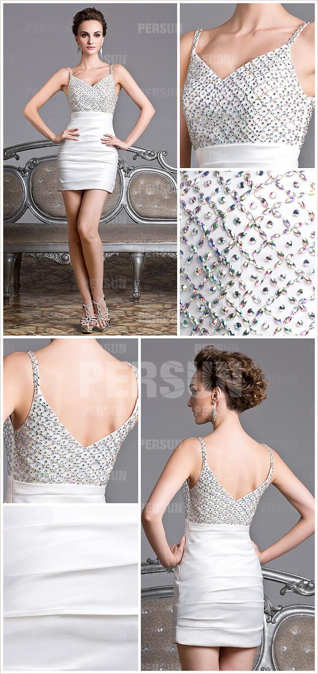 mini robe fourreau ornée de strass