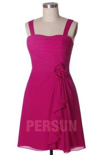 2094dd5cb3f Femme robe pastèque rouge avec fleurs au ceinture en mousseline ...