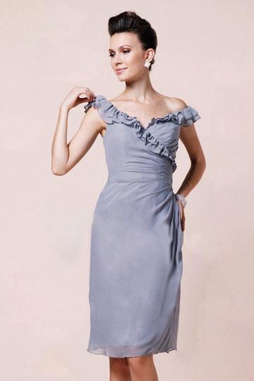 Robe de colis femme frills gris en moussline
