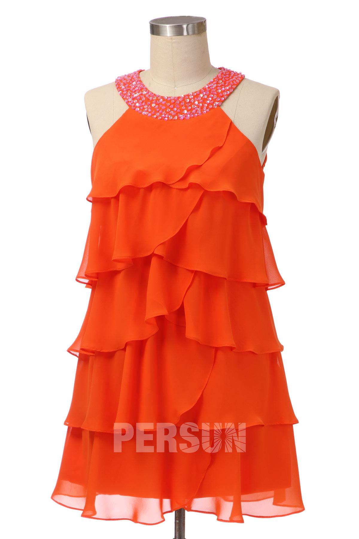 Mini robe habillée à volants pour mariage