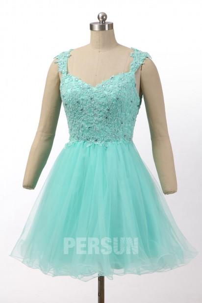 Mini robe de bal tutu rose à dos transparent