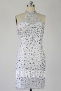 Etui-Linie Jewel-Auschnitt Tüll Kleid für Homecoming,Ball,Cocktailparty