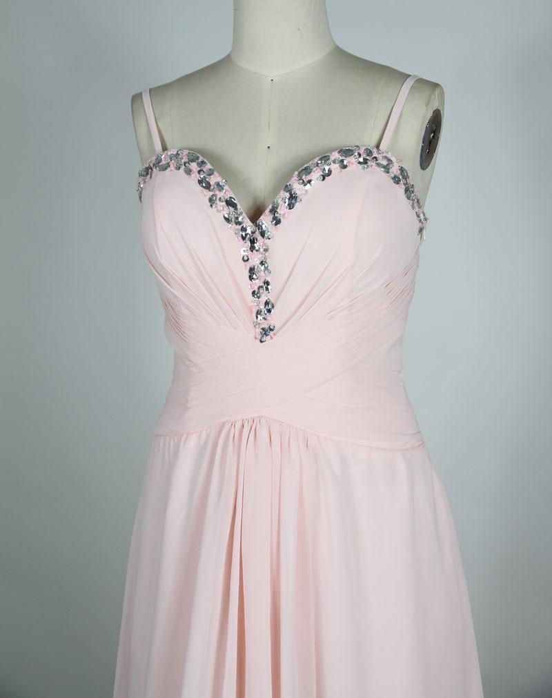 chiffon pink evening dress top