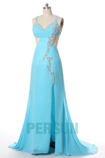 Robe de soirée sexy turquoise