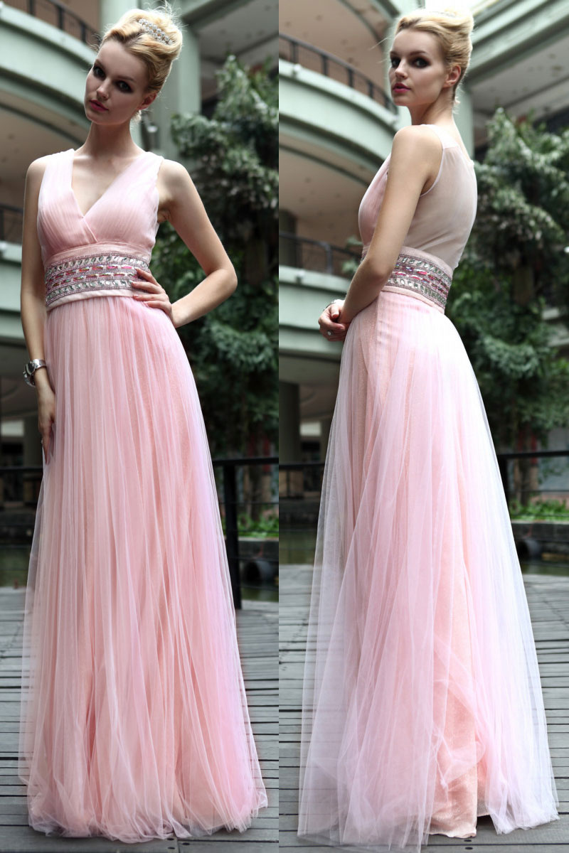 Robe de soiree moulante rose