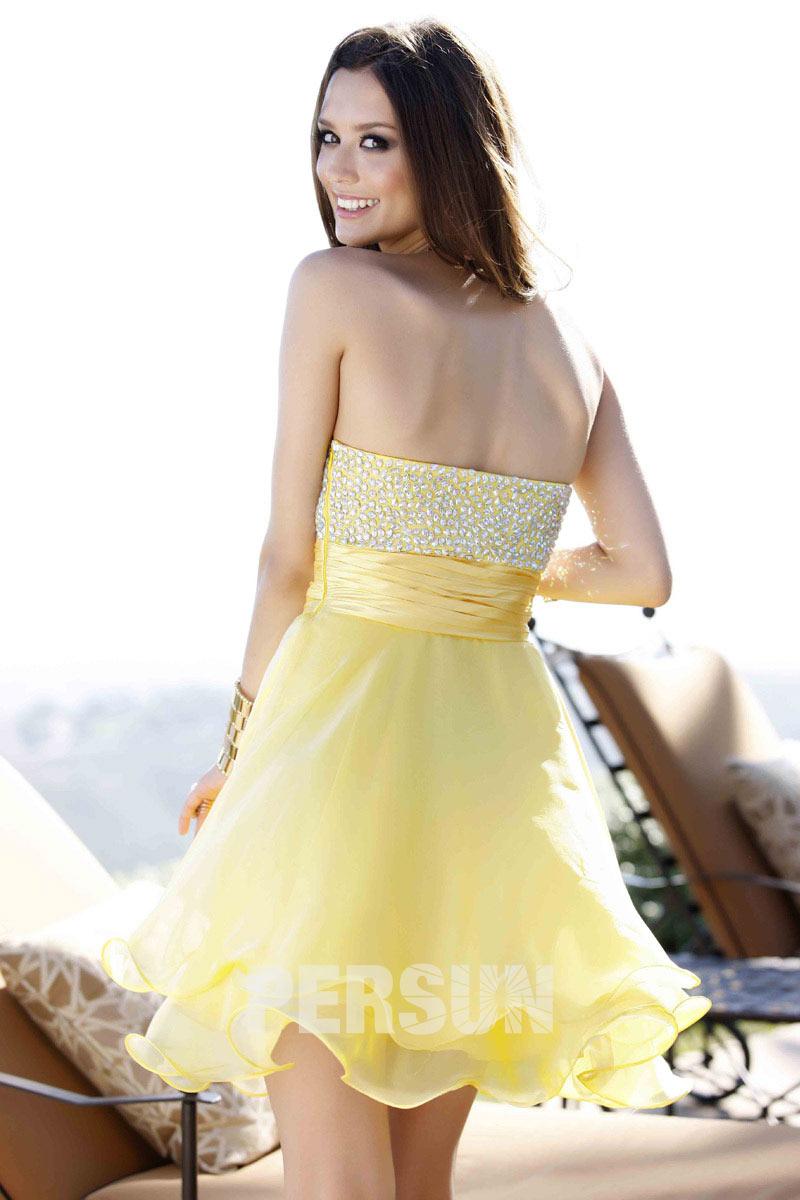 robe courte jaune pour danse