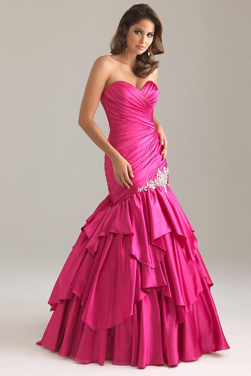 acheter robe sirene strass longue couleur fushia pour gala