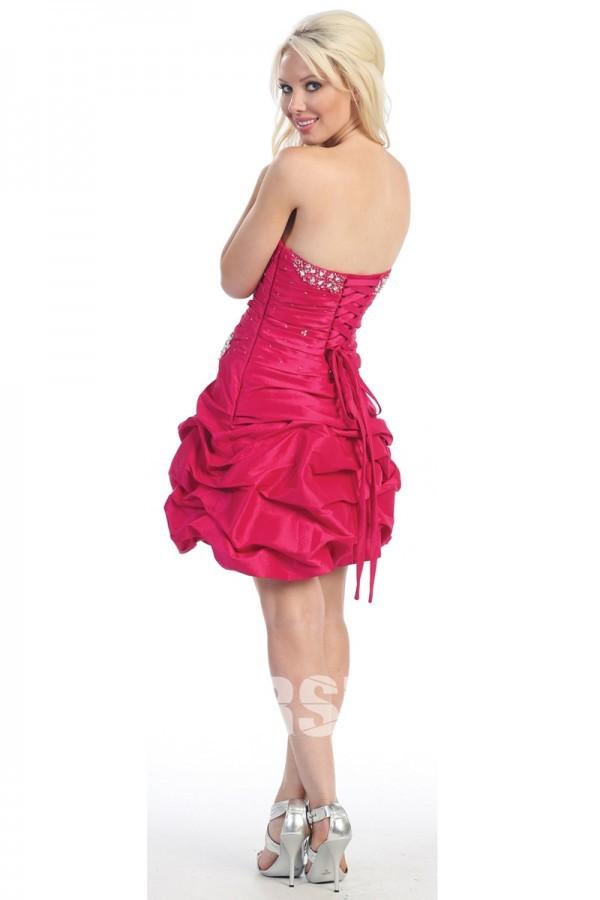 Robe bal bustier courte avec laçage au dos