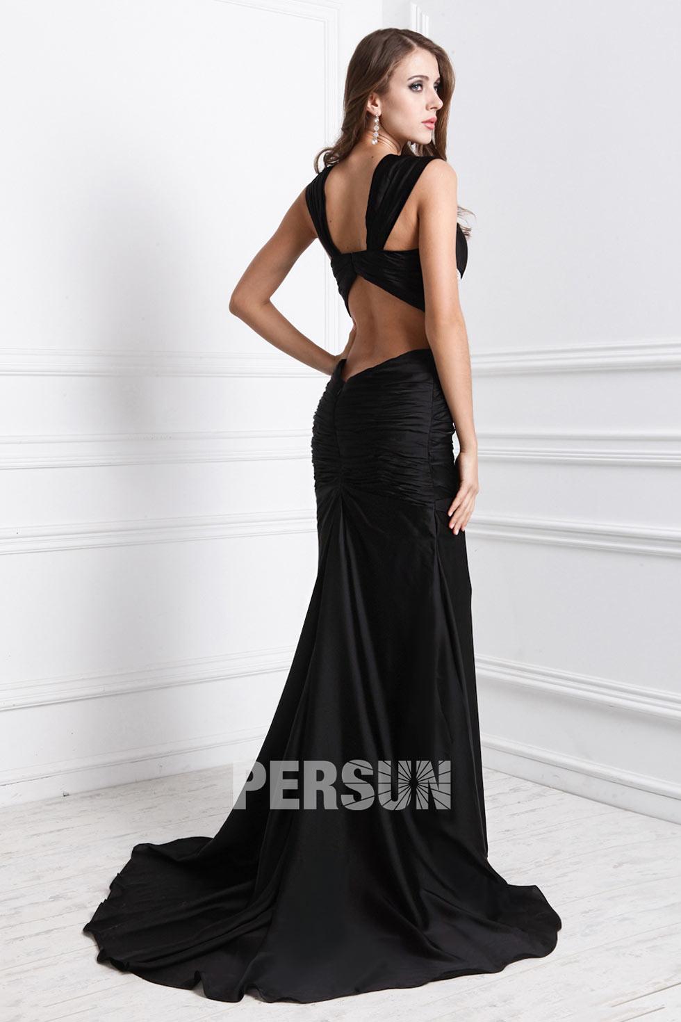 robe noir à dos découvert magnifique