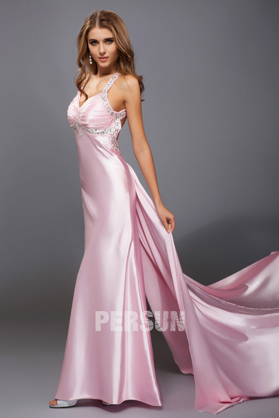robe sexy en coueleur rose pour cocktail et soirée