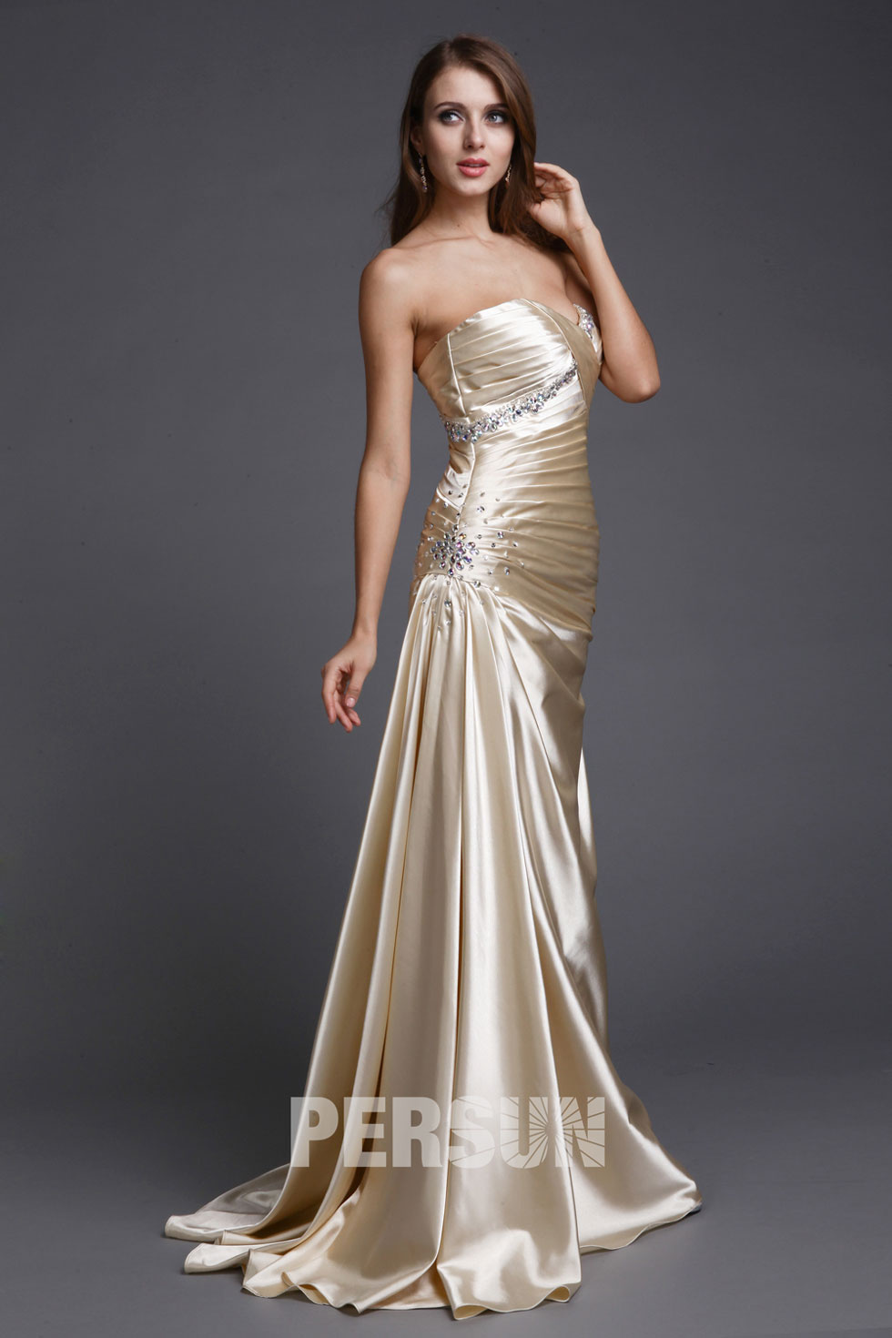 acheter robe de fiançailles longue en satin site