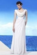Sequins Drapping Cowl Chiffon A line Evening Dress