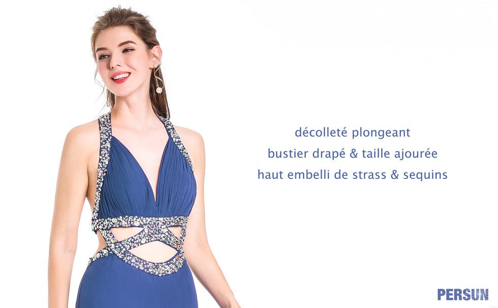 robe sexy de cocktail bustier en coeur parée de paillettes