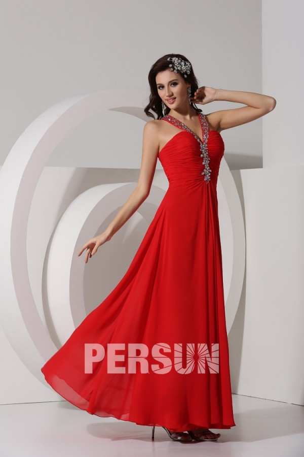 boutique robe bal de promo rouge fluide