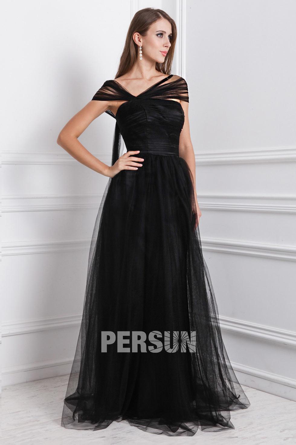 robe de soirée noire en tulle