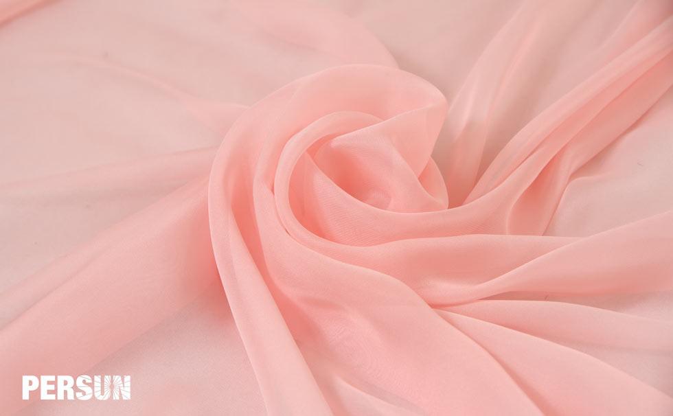 mousseline de soie tencel rose pâle persun
