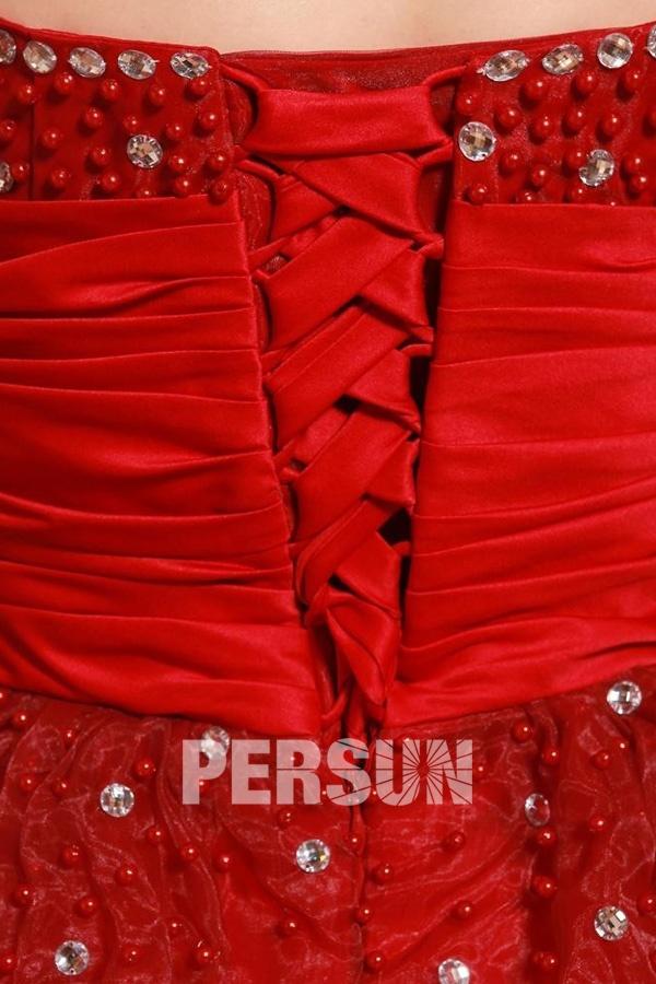 Robe gala bustier empire style princesse avec laçage au dos