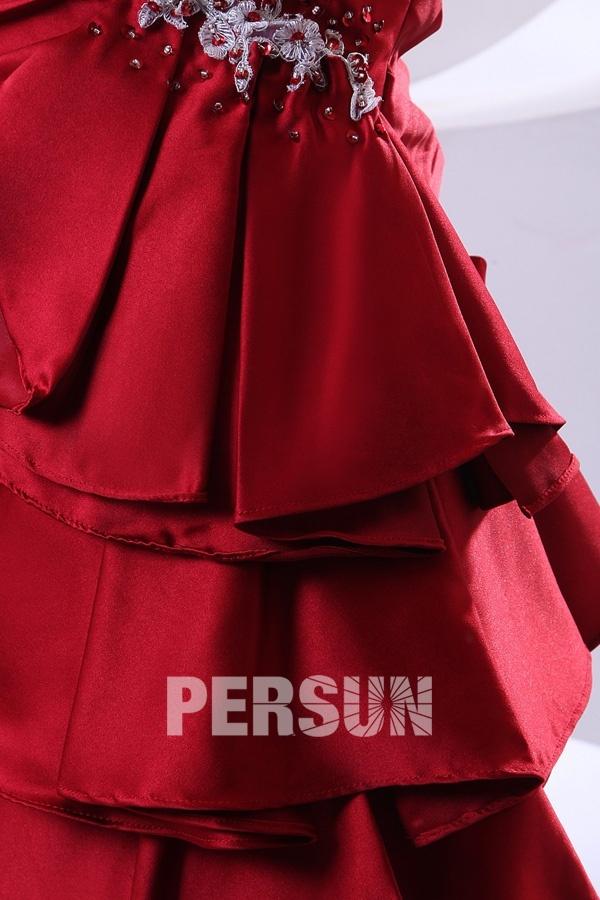 Robe soirée bustier plissée longue avec laçage au dos