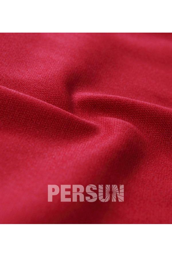 Robe vintage bordée & fourreau avec fentes à manches courtes