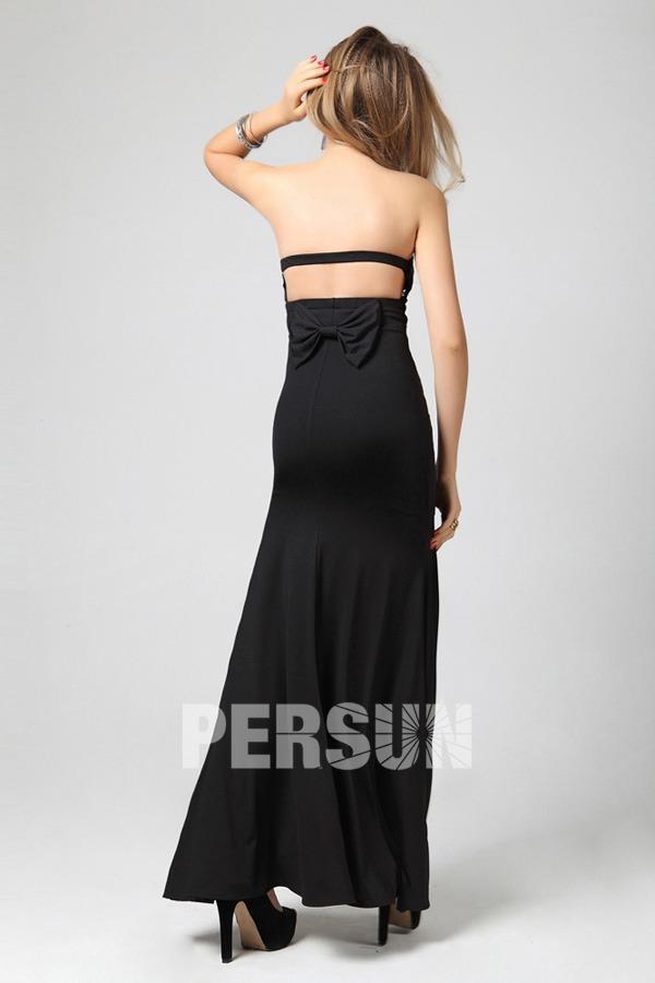 Robe habillée moulante bustier plissée style sirène dos nu