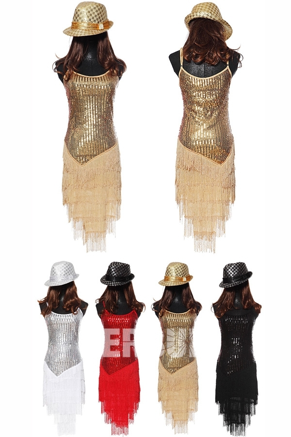 robe de cocktail courte à franges avec bretelles