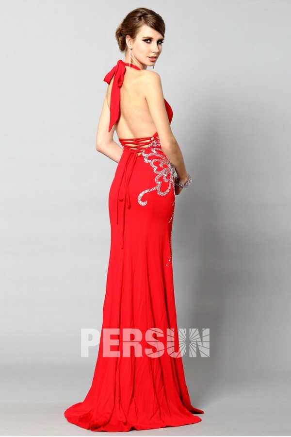 robe rouge longue dos nu discount
