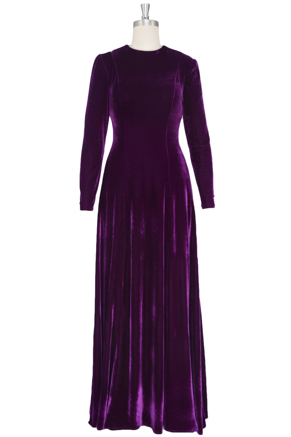 Robe Diane Kruger empire col rond en velvet violette
