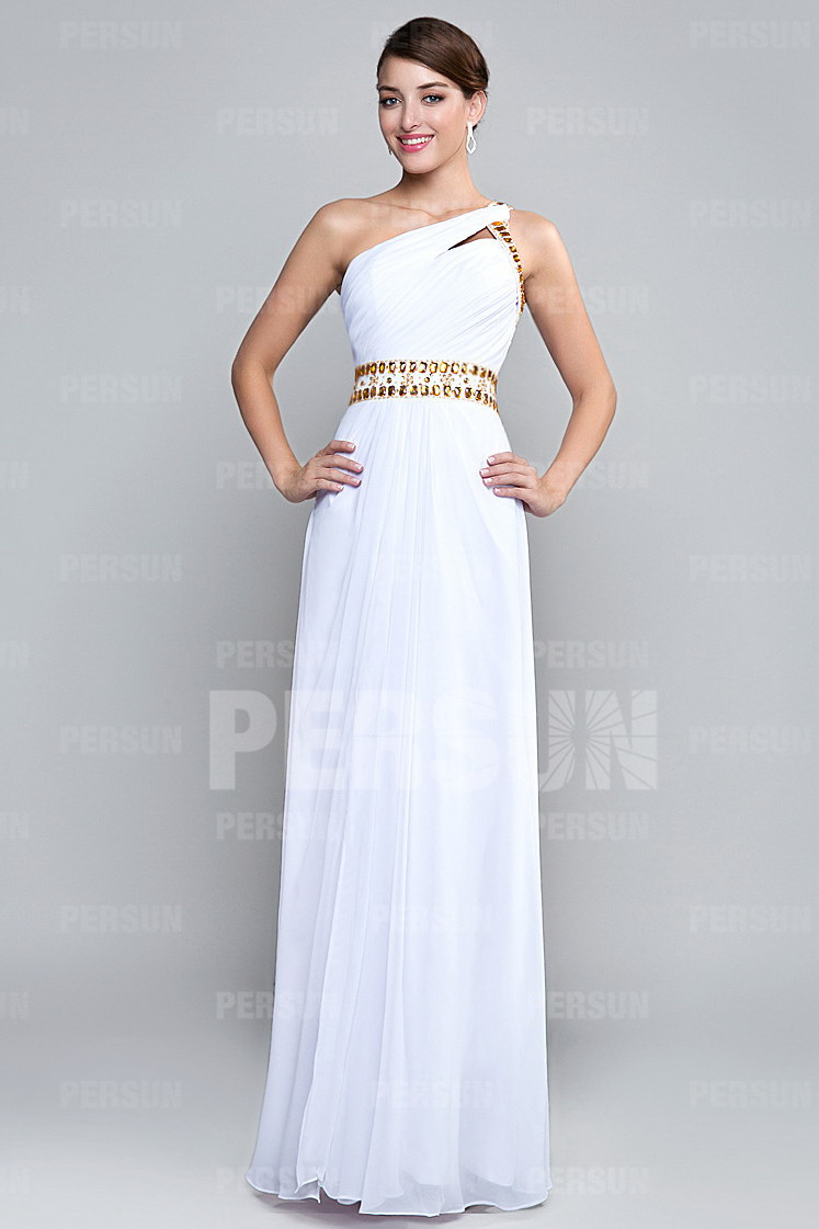 f4dbae8a73ee2 Robe blanche longue dos ouvert pour cocktail - Persun.fr