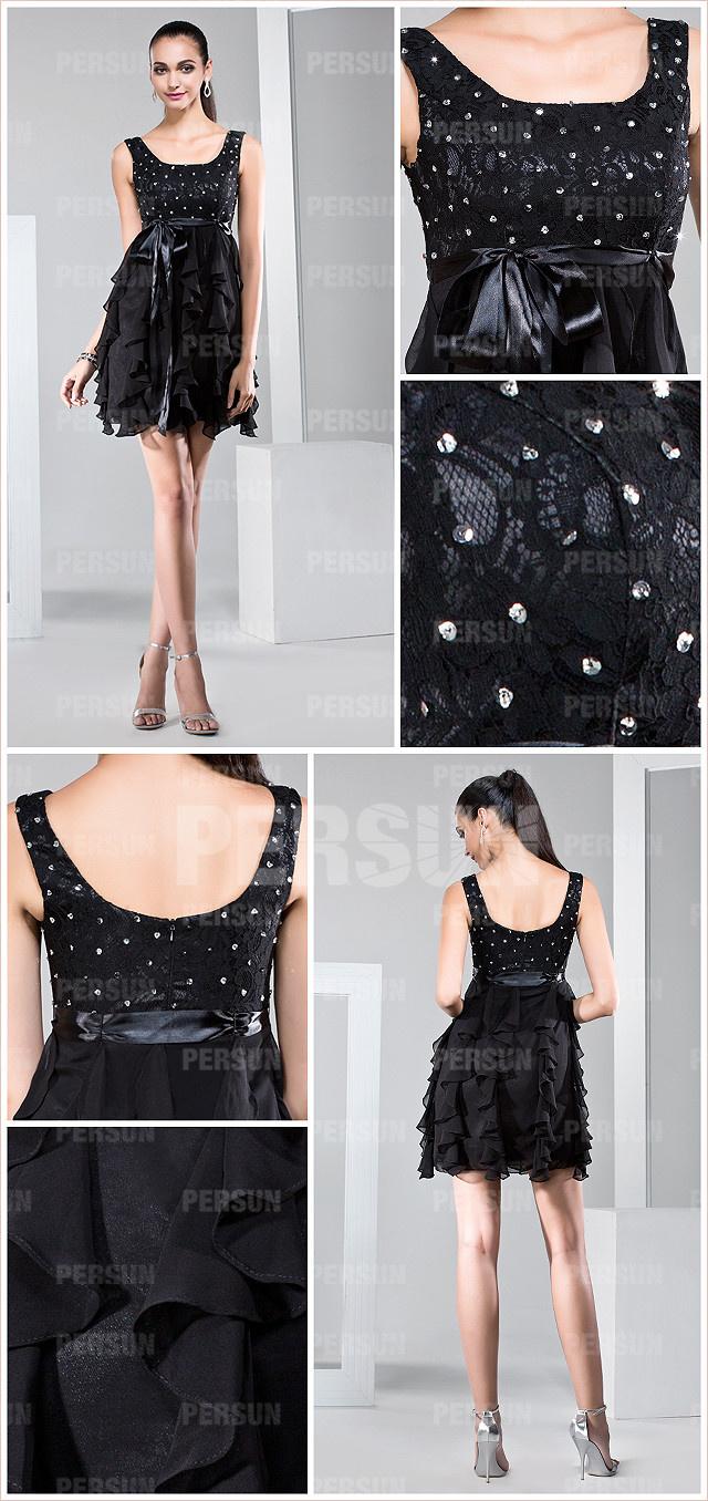 Petite robe noire à volant