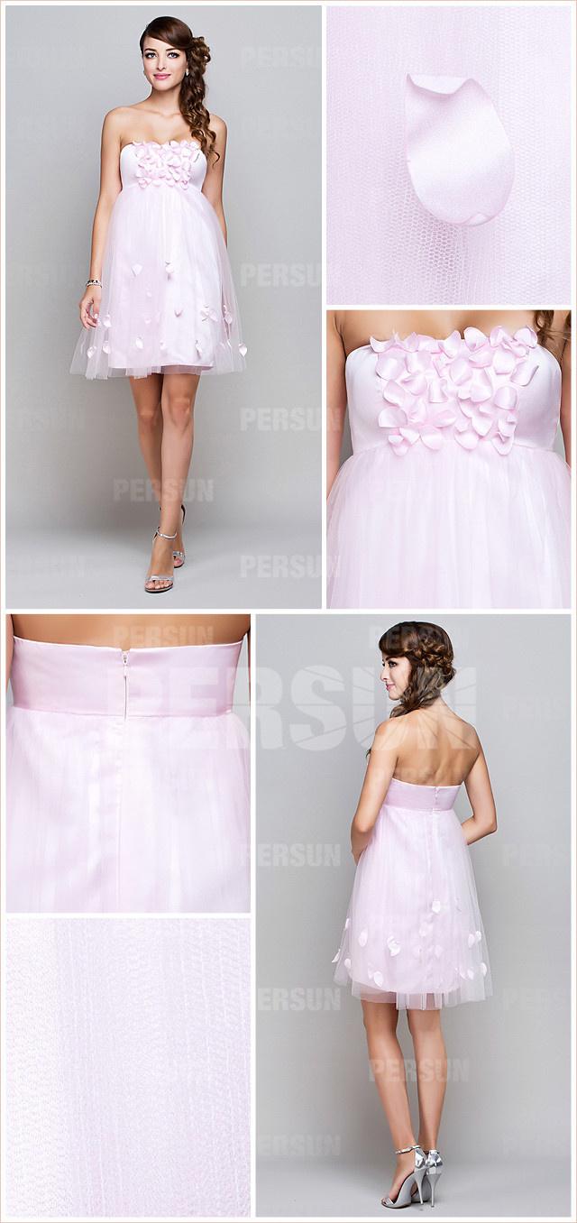 Robe de soirée rose pour mariage
