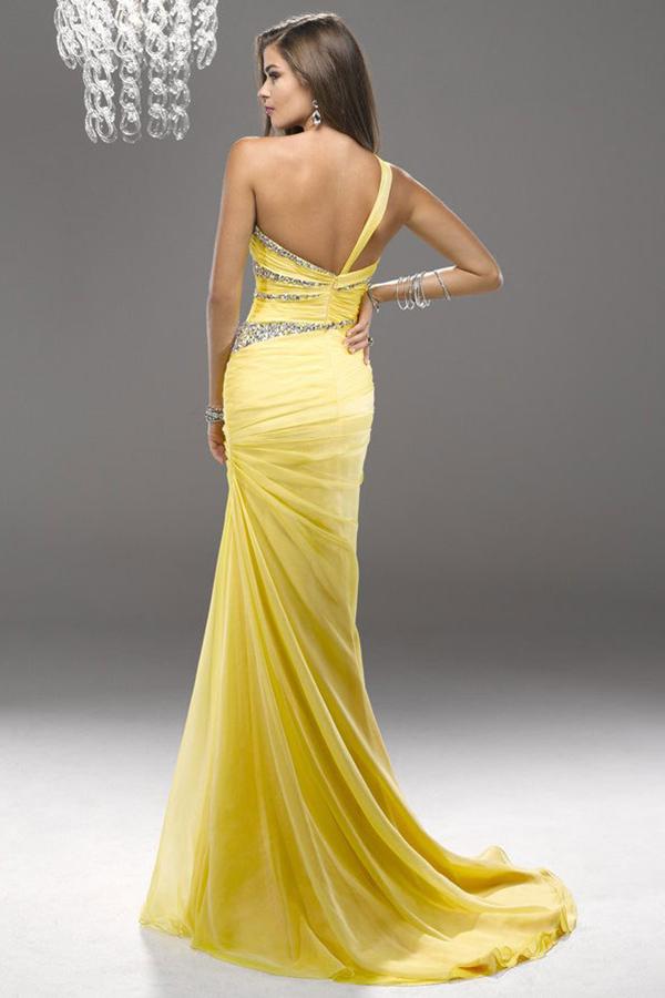 robe jonquille dos nu bon prix en ligne