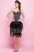 Petite robe noire à bustier scintillante