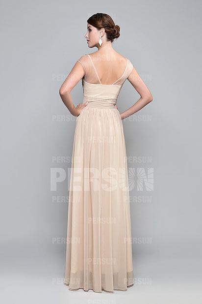 846f8e48291 Robe soirée chic en couleur peau - Persun.fr