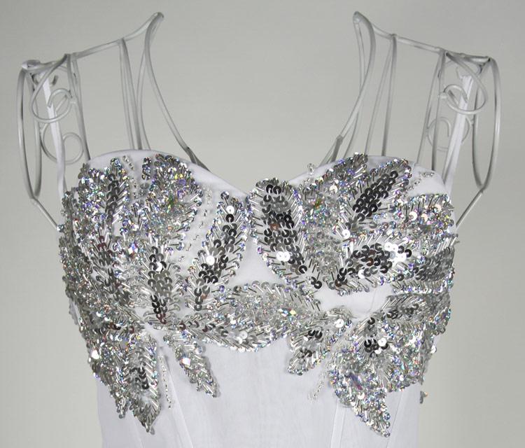 robe de soirée sexy brillante bustier cœur à paillettes
