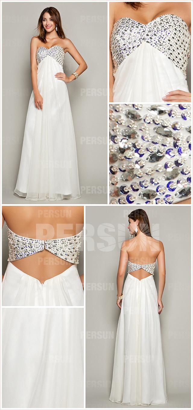 style robe blanche dos découpé pas cher mousseline